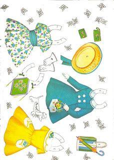 Bonecas de Papel: Petite Paper Dolls-clothes