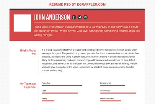 25 creative examples of free resumes psd antsmagazinecom ... 25 Creative Examples Of Free Resumes Psd Antsmagazinecom Design_resume Pinterest Free Resume Resume And Creative
