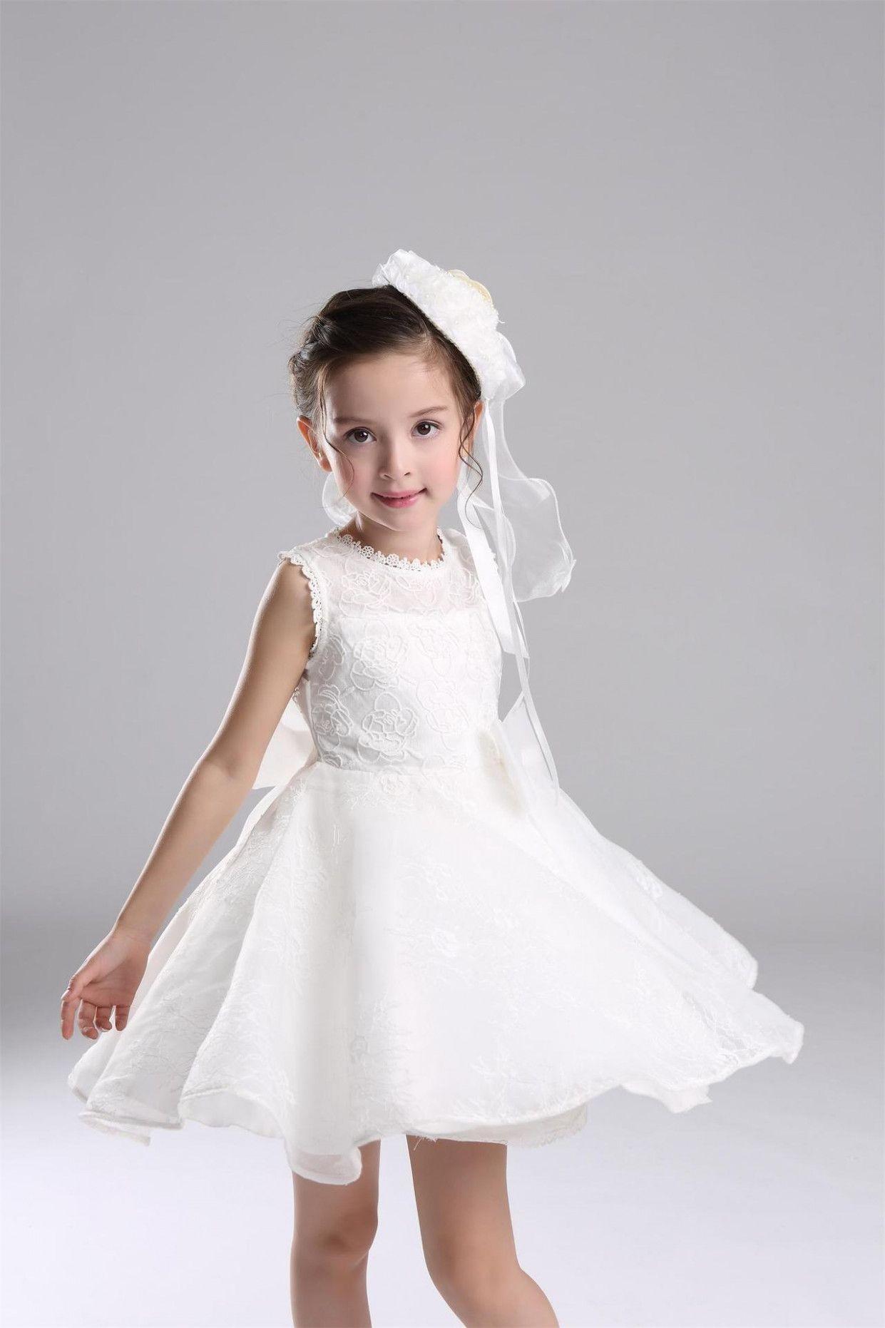 6379386f4 Baby Girl Dress Children Wedding Dress Princess Bridesmaid Flower ...