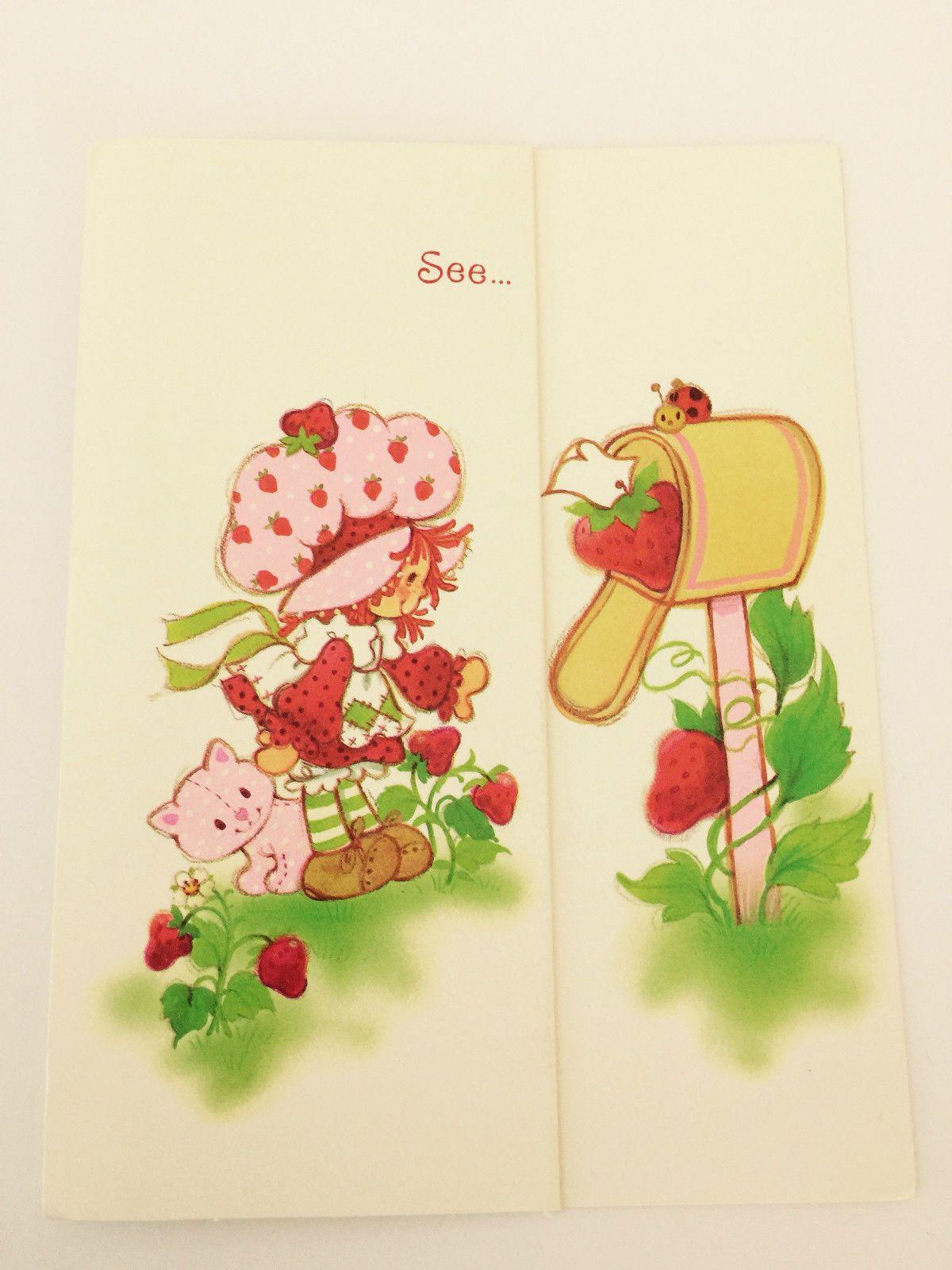 Httpebayitmvintage Strawberry Shortcake Greeting Card