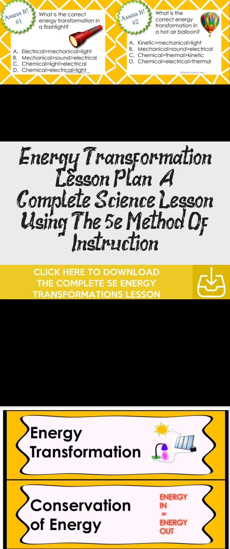Energy Transformation Lesson Plan A Complete Science Lesson Using The 5e Method Of Instruction In 2020 Interactive Science Notebook Middle School Science Interactive Science