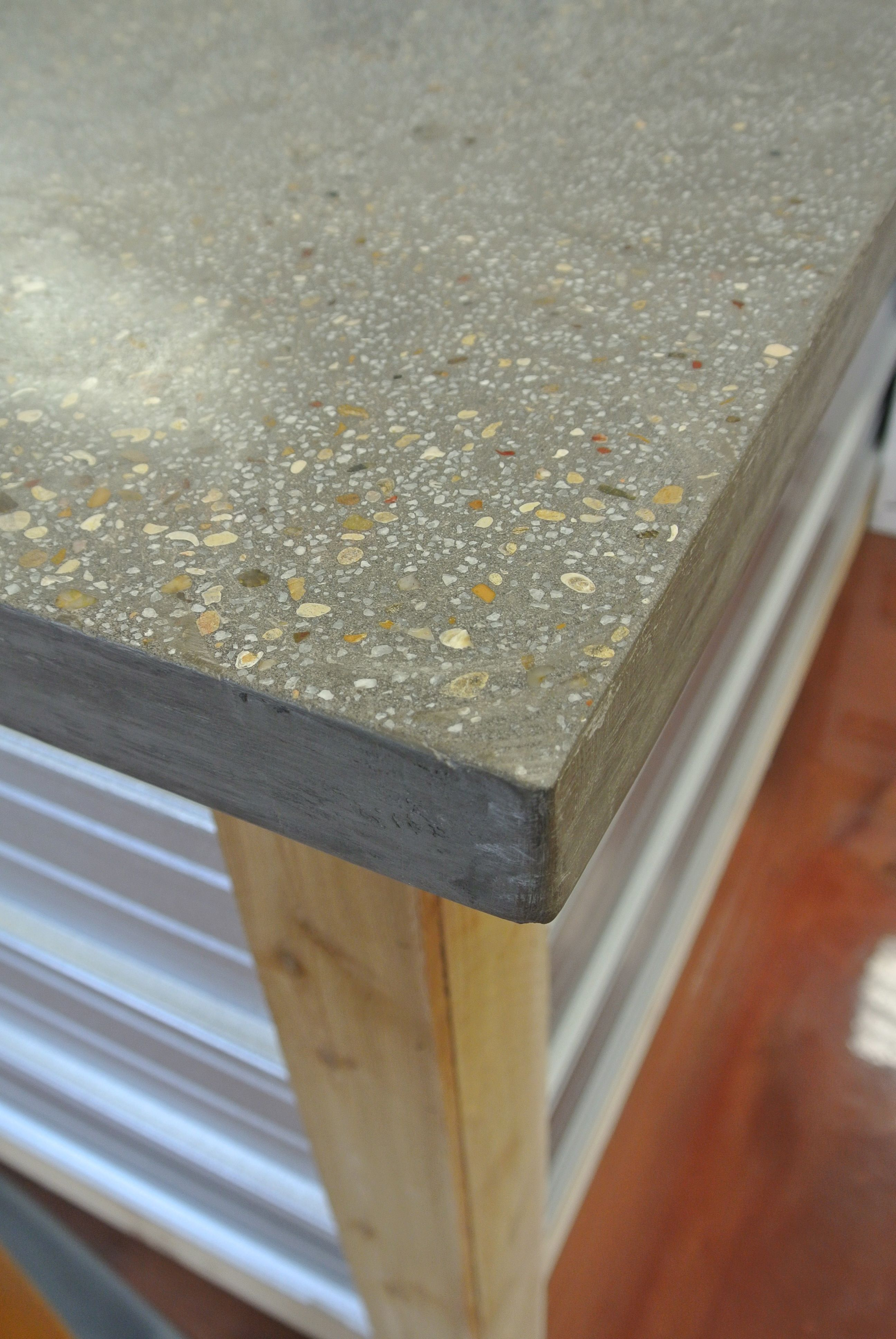Buddy Rhodes Concrete Countertop Smoke Color Pea Gravel