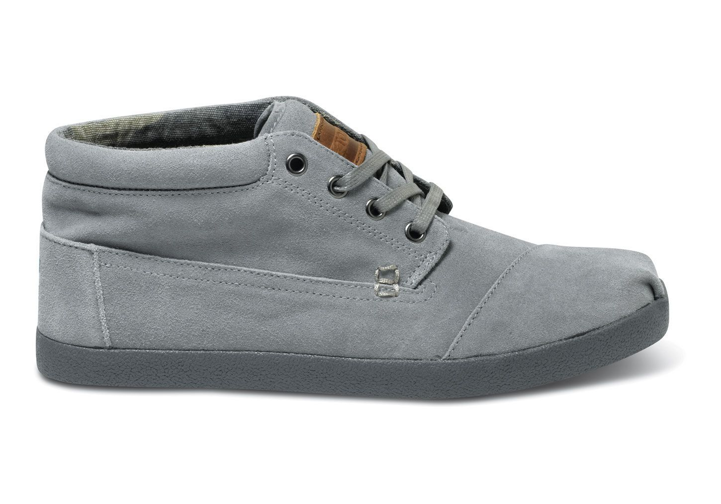 e5f947d27f32c Grey Suede Men s Botas fit with any type of shirt or t-shirt  TOMS GIVE BACK  TO SCHOOL CONTEST