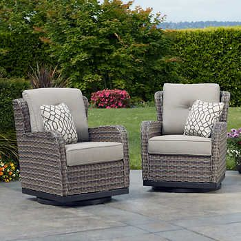 Eastport 2 Pack Swivel Glider Chairs Outdoor Swivel