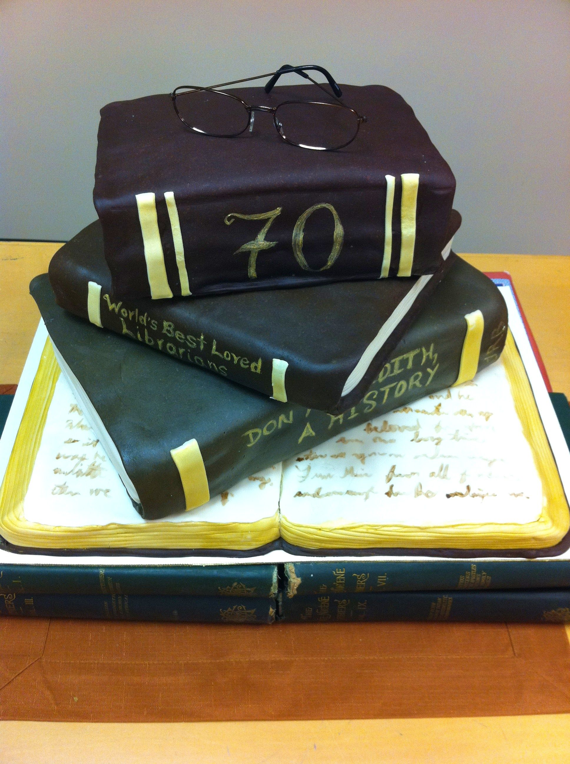 Heres A Cake I Jessi Did For Librarians 70th Birthday