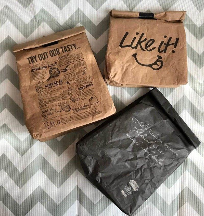 ブラックも登場 キャンドゥ 紙袋風ランチバッグ の新商品