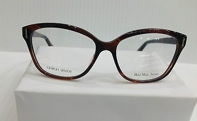 NEW AUTHENTIC GIORGIO ARMANI GA 818 COL SPL BROWN PLASTIC EYEGLASSES FRAME 52MM