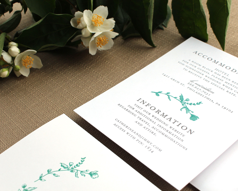 Designed by Fleurish ink Wedding Invitation Custom