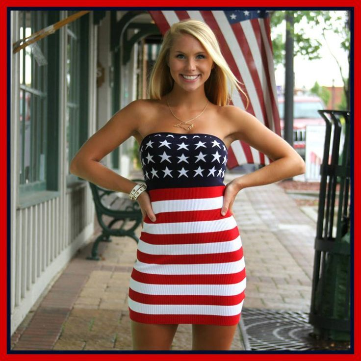 08b3ed616ef88 Cool and Chic Outfit Ideas for 4th of July Flag Dress, Great Women,  Beautiful