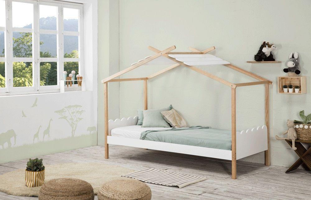 nuvem lit cabane enfant en bois pas