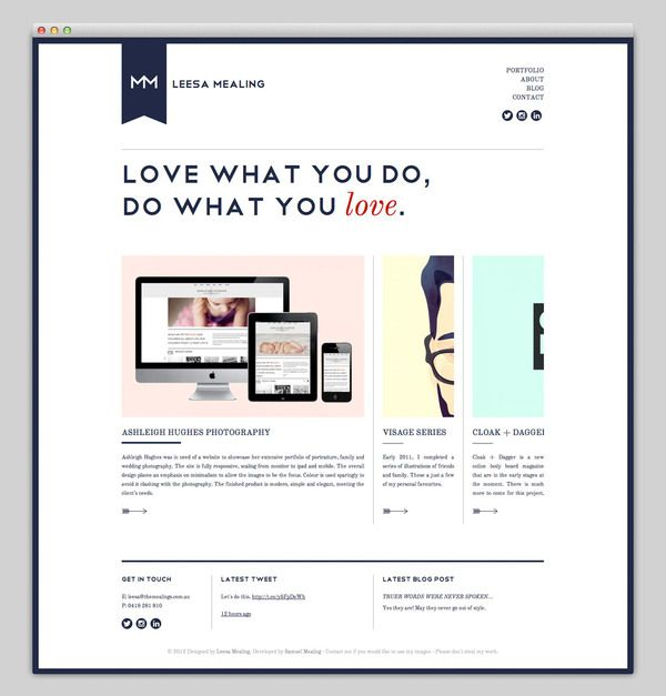 the mealings web site layout nice soft design with good balance and information hierarchy