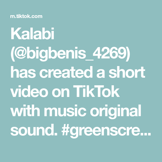 Kalabi Bigbenis 4269 Has Created A Short Video On Tiktok With Music Original Sound Greenscreen The Ultimate Question Ti In 2020 The Originals Music Nursery Music