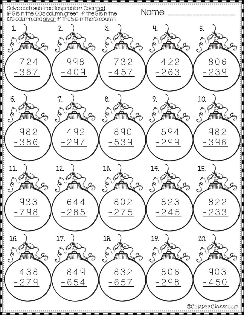 Word Problems 2 Grade 1 Mommygrid Com Christmas Math Subtraction Practice Subtraction [ 1056 x 816 Pixel ]