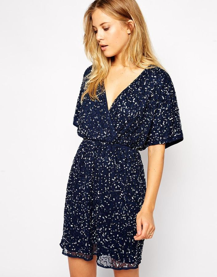 61a4d8a6a75 ASOS COLLECTION ASOS Sequin Kimono Dress NOW 25% OFF