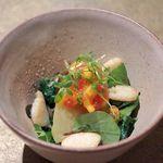 六雁 - 料理写真:前菜/朝摘み野菜のおひたし