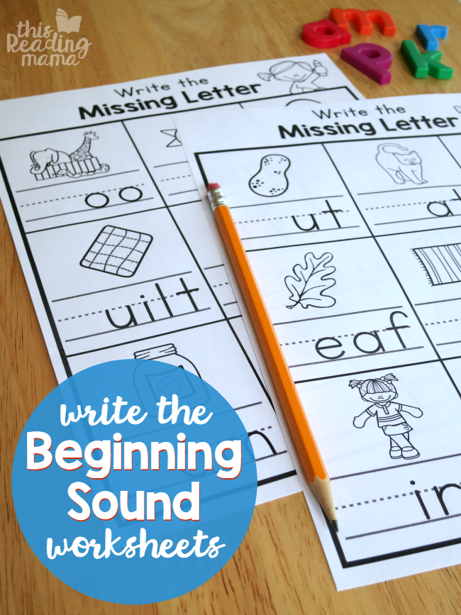 Write the Beginning Sound Worksheets | Pinterest | Worksheets, Free ...