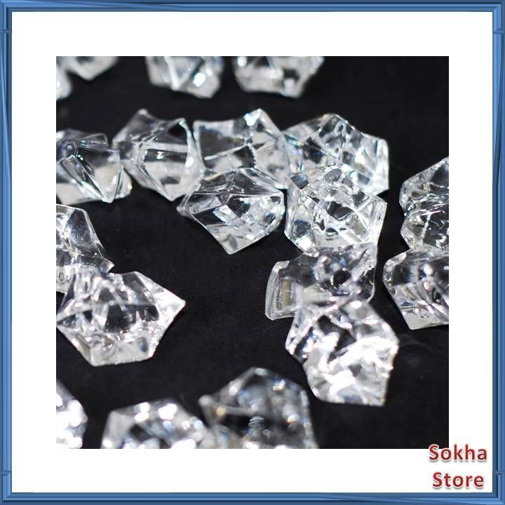 Acrylic Ice Rock Cubes 3 Lbs Bag Vase Filler Or Table Decorating