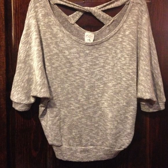 Crop sweater brown beige real soft Soft and light weight crop sweater brown and beige robin k Sweaters
