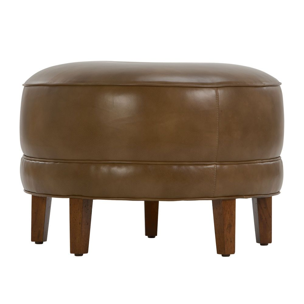 20 27 or 37 custom nassau round leather ottomans ethan 20 27 or 37 custom nassau round leather ottomans ethan allen geotapseo Images