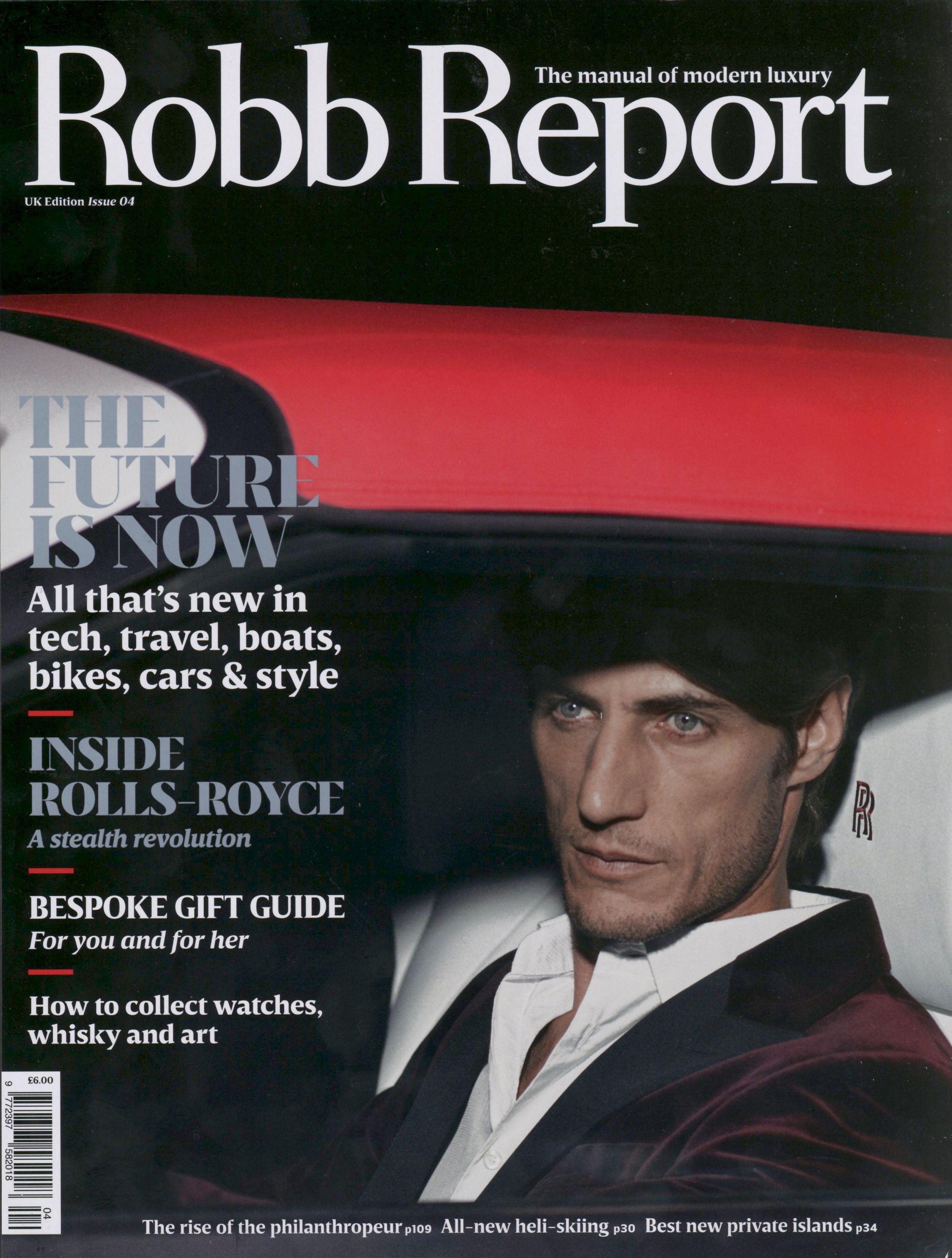 Axel Hermaan taken the cover of Robb Report