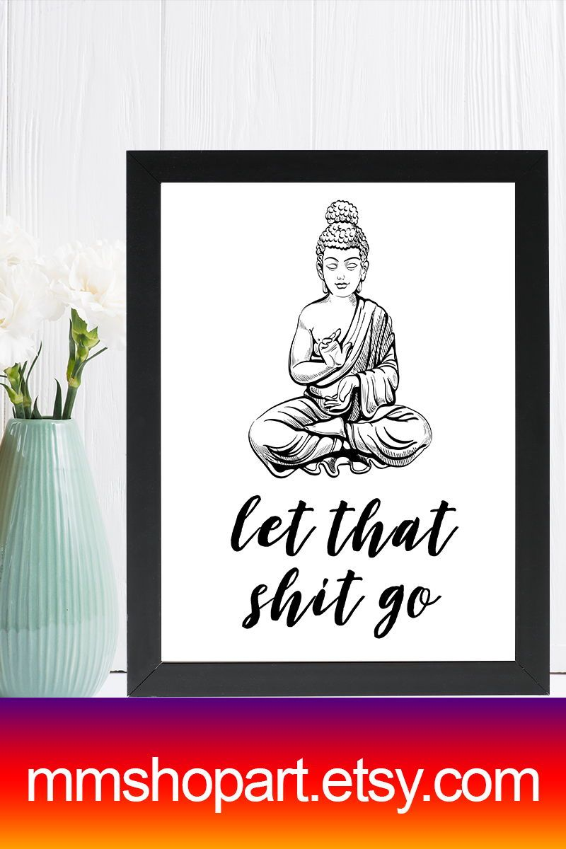 Let That Shit Go Funny Bathroom Sign Bathroom Quote Decor Funny