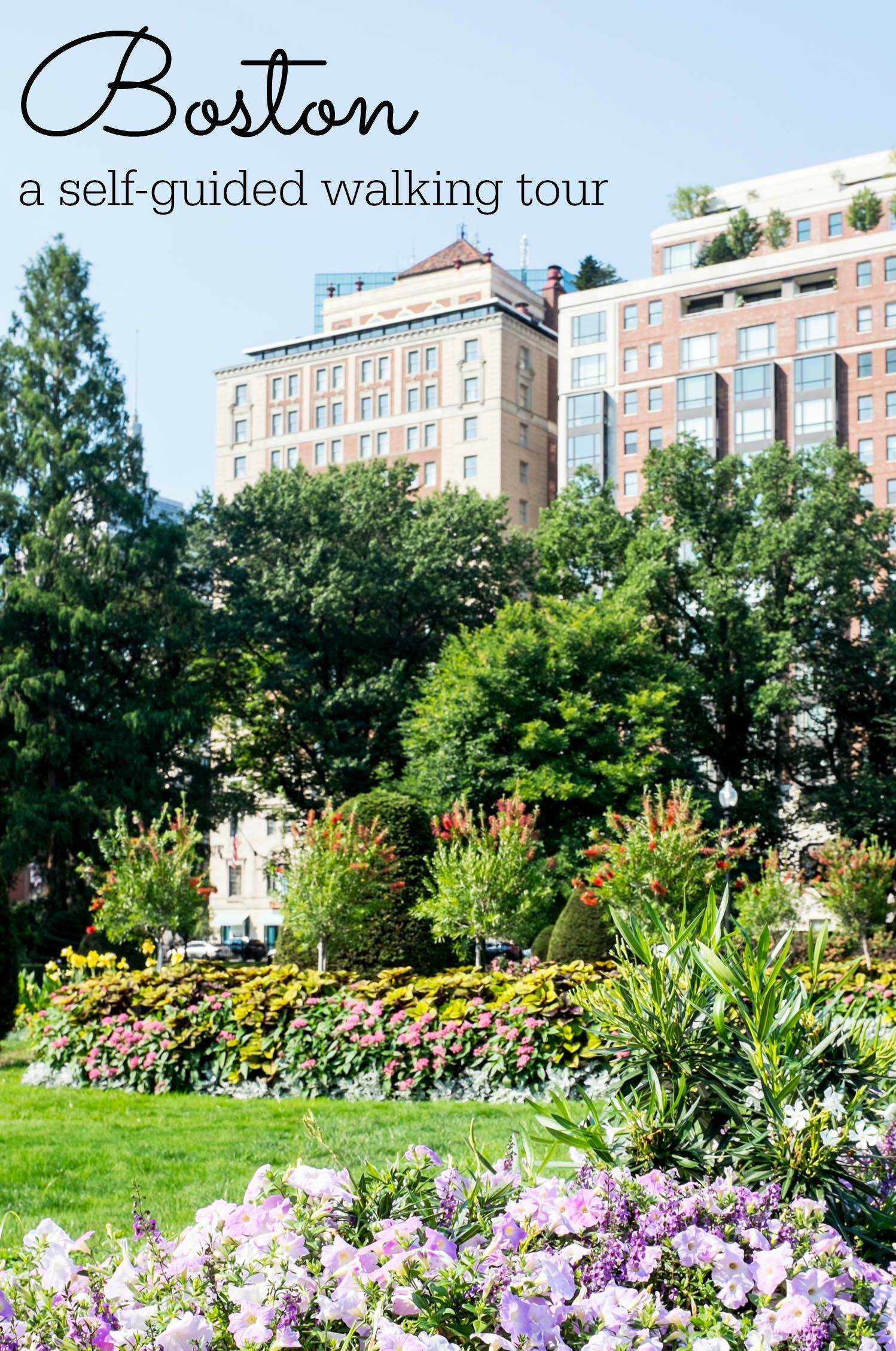 Self Guided Walking Tour of Boston historic charm