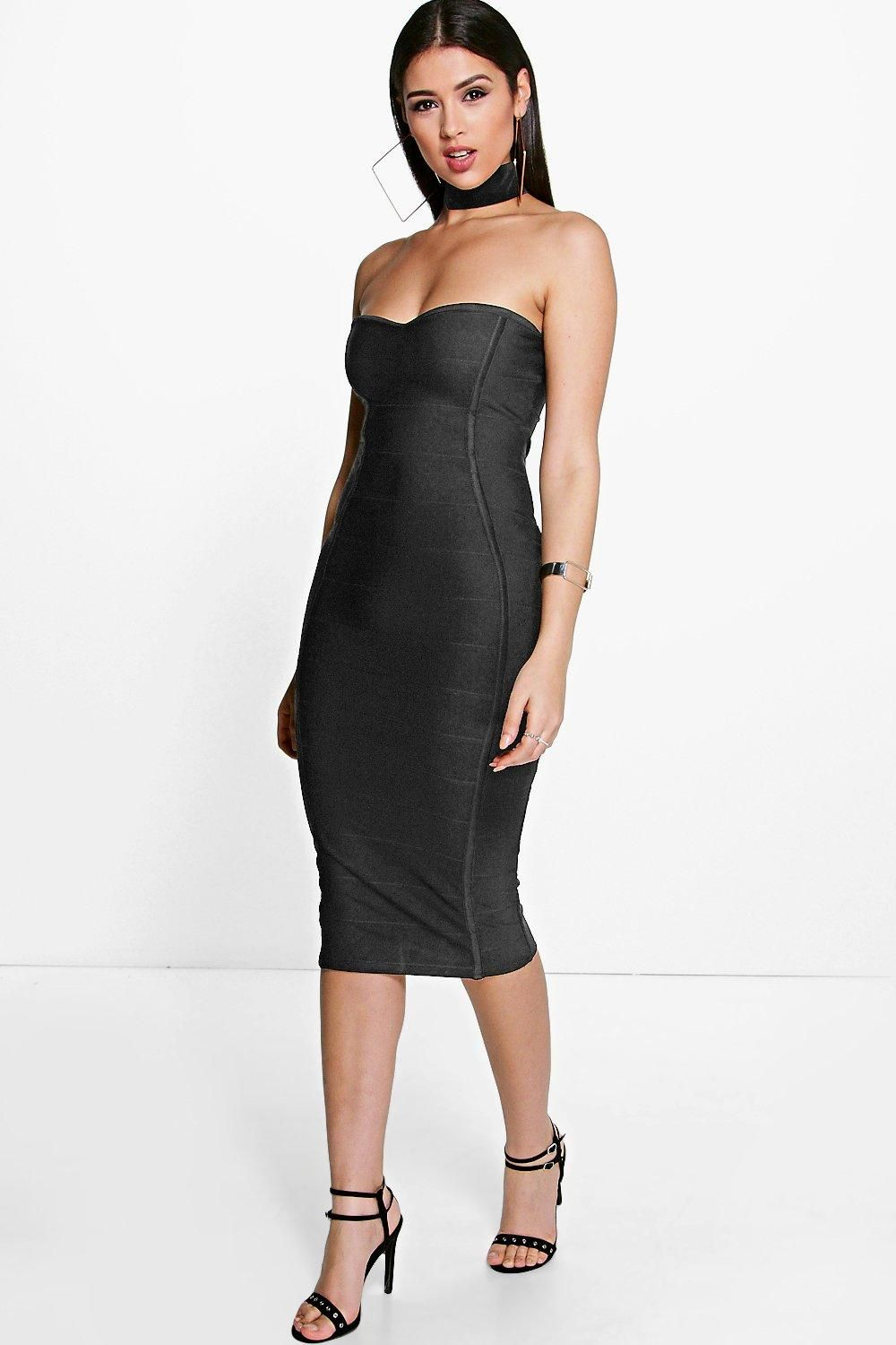 b9a793a4d92c Gia Bandeau Bandage Midi Bodycon Dress | Everything beauty | Bodycon ...