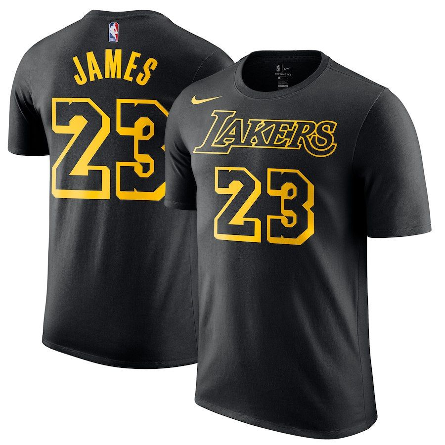 Lebron James Los Angeles Lakers Nike City Edition Name Number Performance T Shirt Black Lebron James Lakers Lakers T Shirt Nba T Shirts