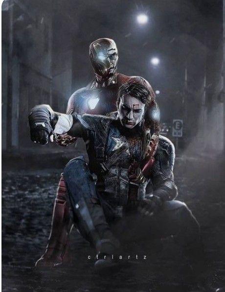 Broken Iron Man Saves Captain America Endgame Art Marvel Superheroes Marvel Comics Avengers