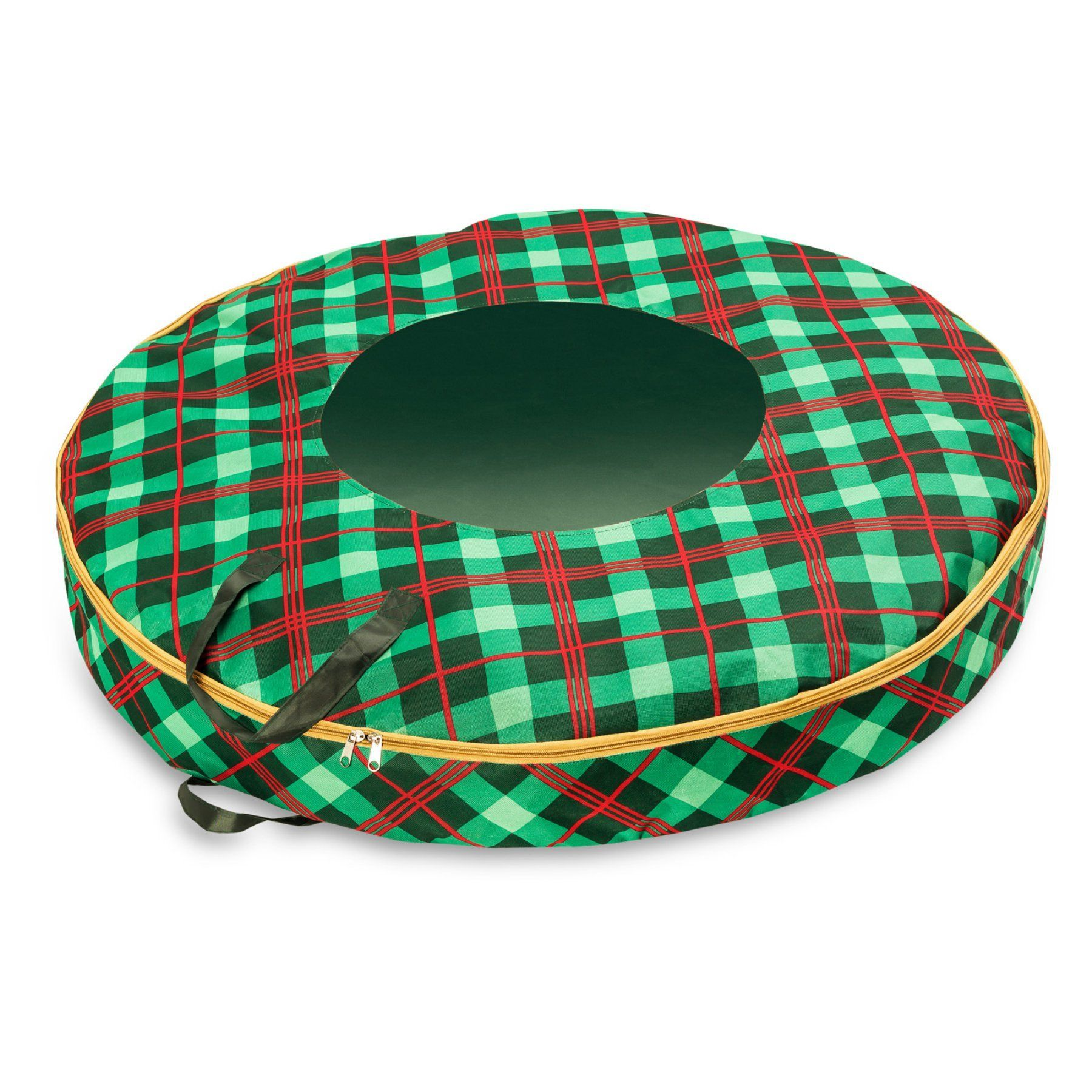 Honey Can Do Plaid Wreath Storage Bag Sft 07751