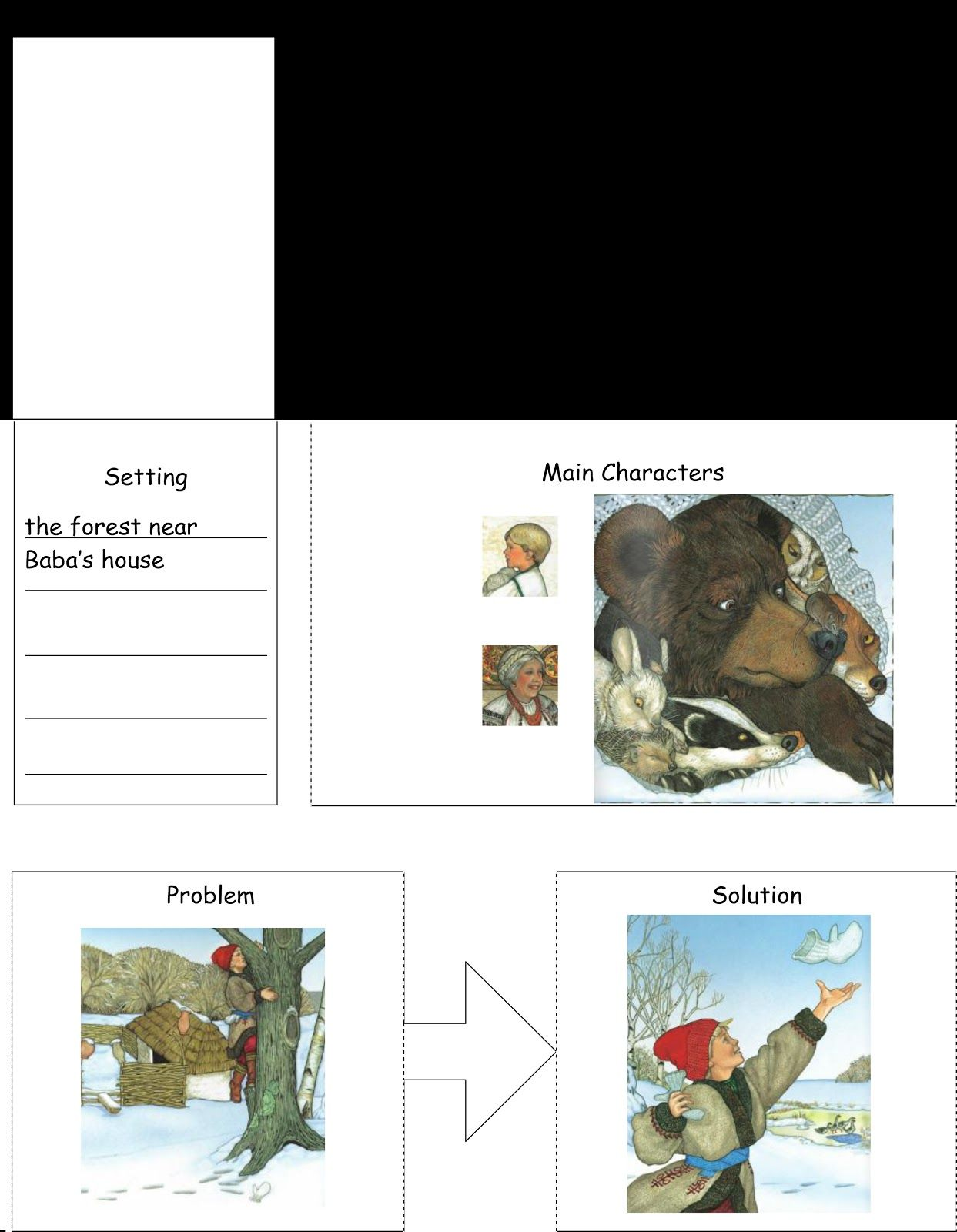 Free Simple Story Map Printable The Mitten Example