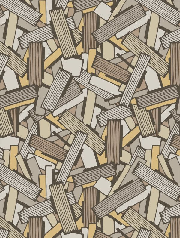 Wallpaper inspired by geology. So cool! Interiors by Element, seen on Design Milk.