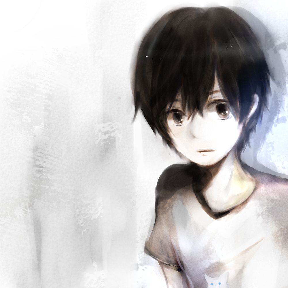 Anime little boy with black hair widescreen 2 hd wallpapers