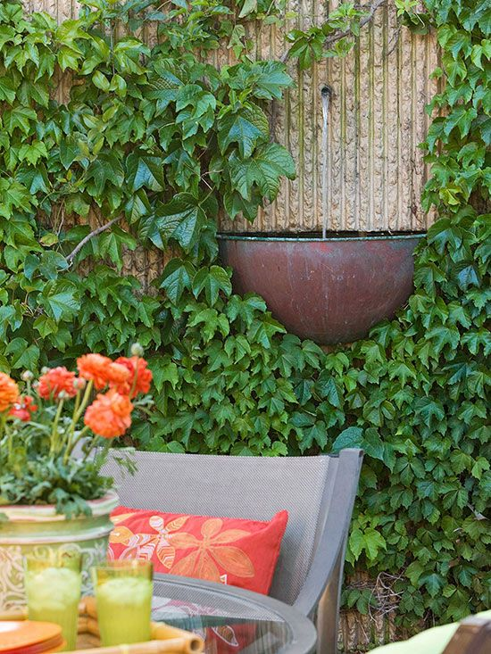 ... busy street can be just as annoying as seeing your neighbor\u0027s weedy back yard. Solve this kind of problem by adding a fountain or other water feature to ... & 13 Tips to Make Your Deck More Private | Pinterest | Water features ...