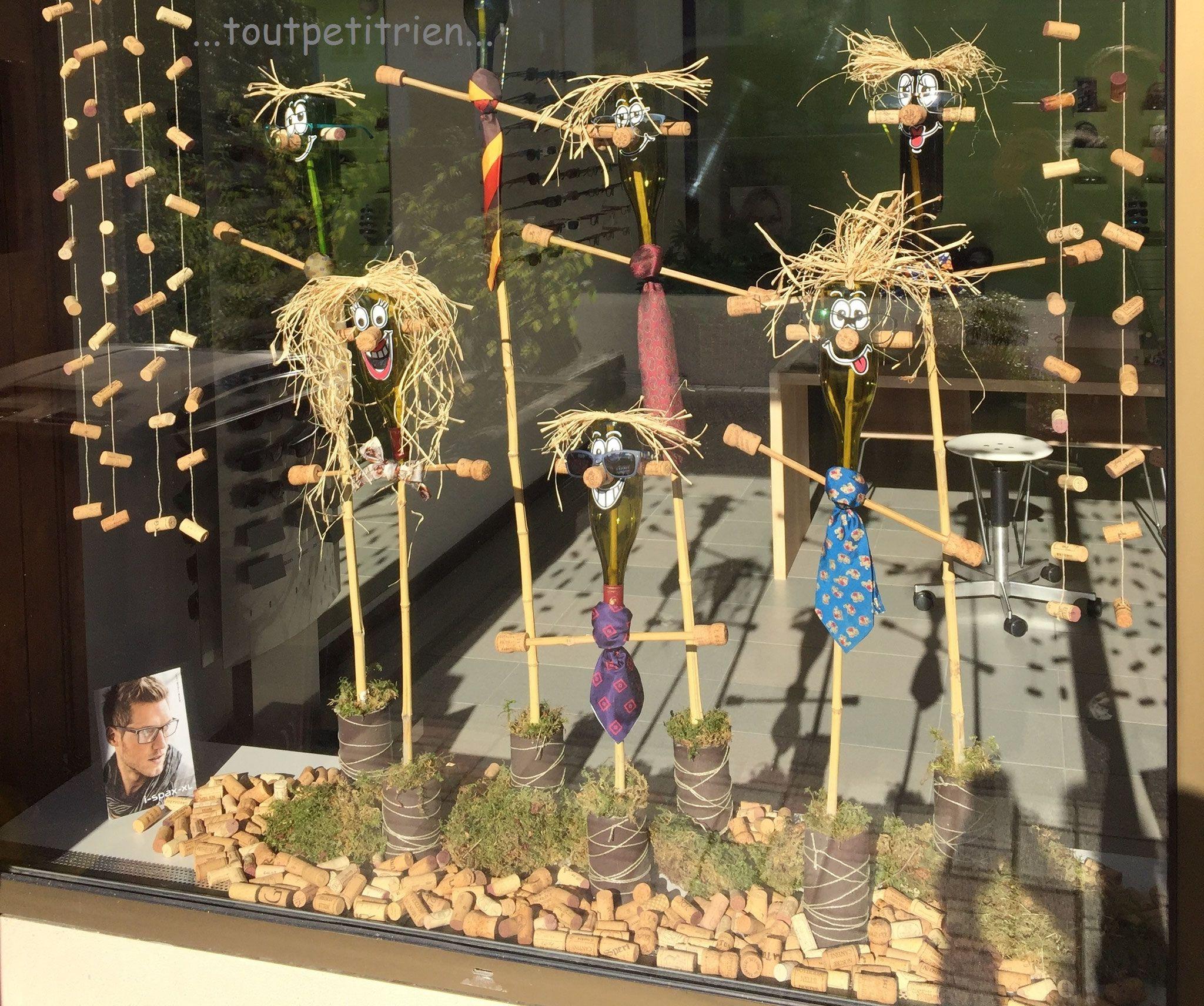 Decoration Vitrine Theme Automne : Décoration automne vitrines magasin d optique recyclage