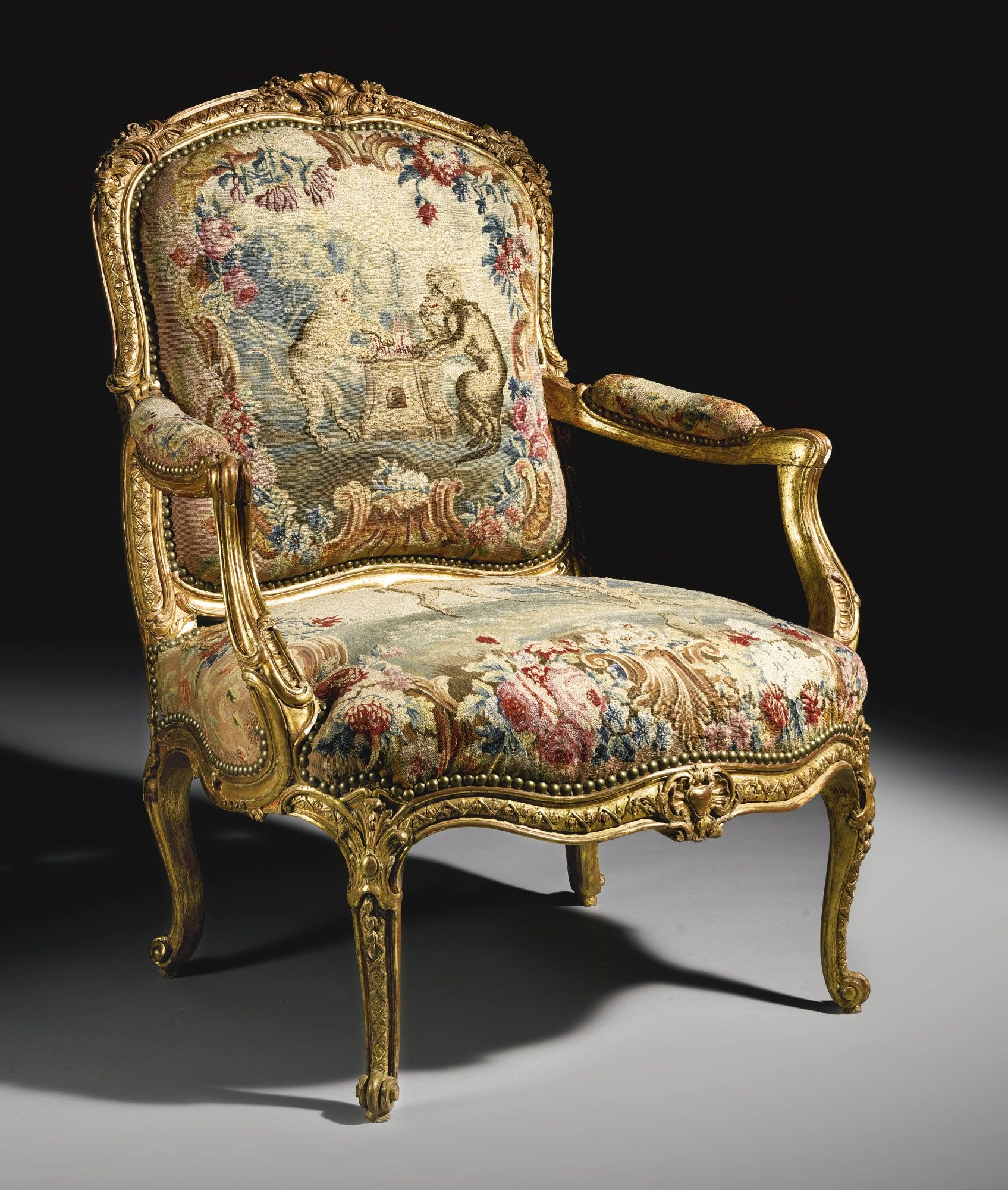 Antiques French Armchair Baroque Chair Livingroom Furniture Fine Workmanship Furniture