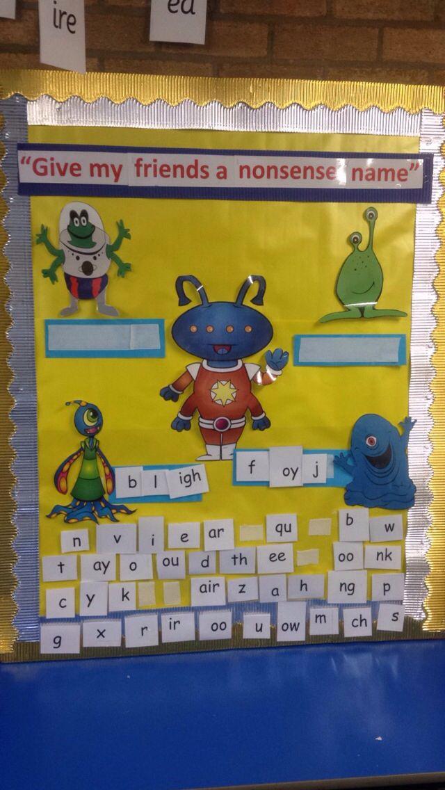 Classroom Ideas Ks1 ~ Ks phonics children create their own alien words and