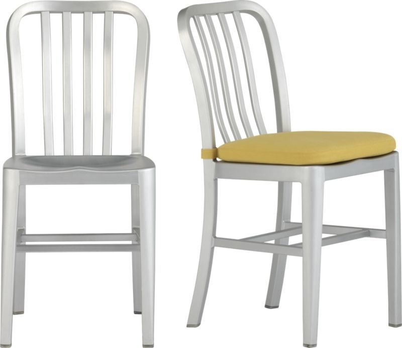 Delta Side Chair And Cushion Crate And Barrel Designed And Tested For Use In Commercial Spaces Such As Of Aluminum Bar Stools Aluminum Chairs Dining Chairs