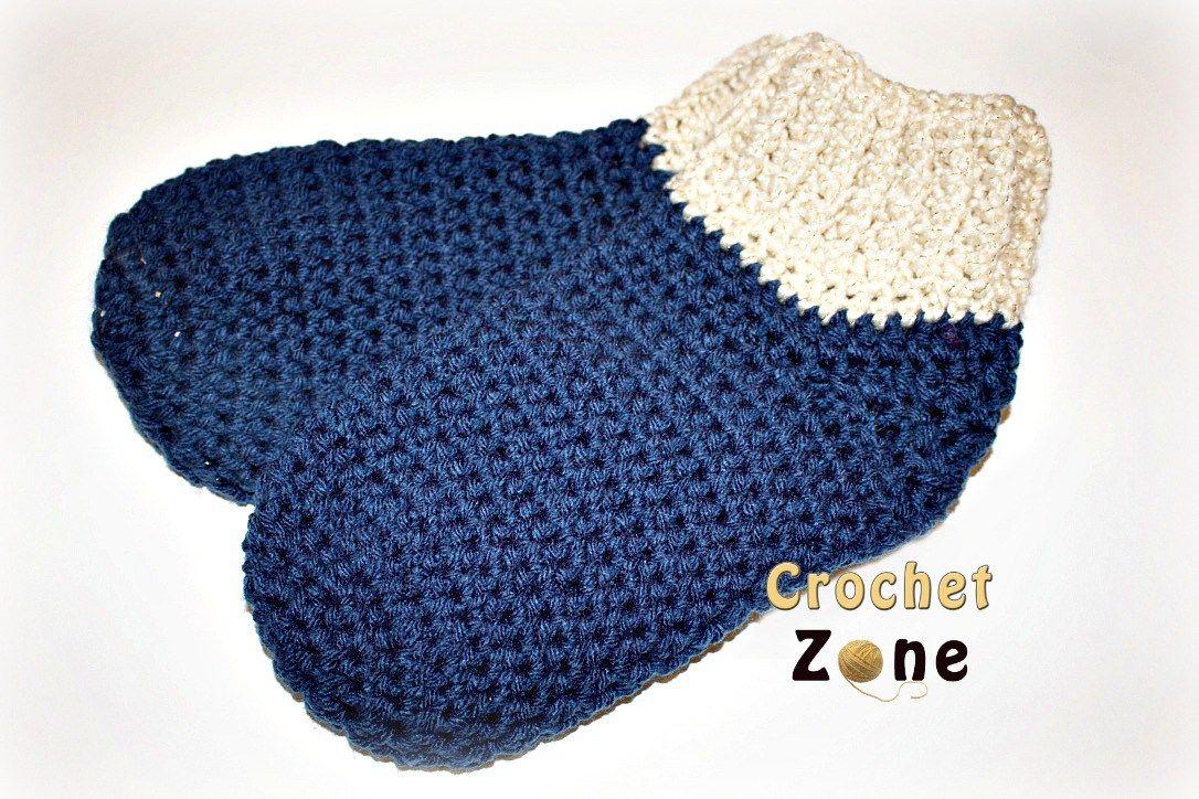 Free Crochet Pattern: Basic Slipper Socks | Crocheting | Pinterest ...