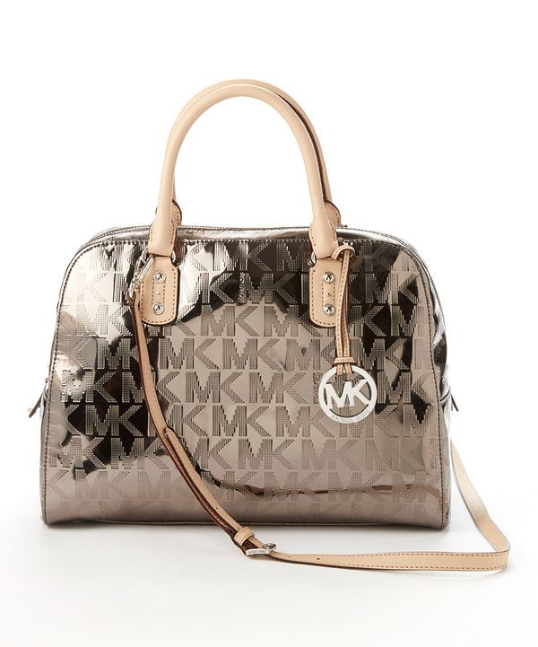 Look At This Michael Kors Nickel Signature Large Satchel On Zulily Today