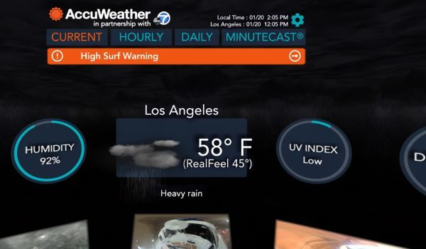 AccuWeather now lets you look at the forecast in virtual