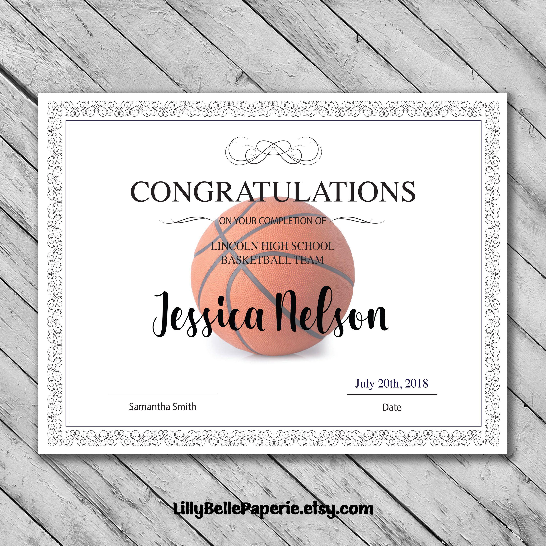 Basketball Certificate Certificate Templates Printable Certificates Awards Certificates Template Free basketball certificates to print