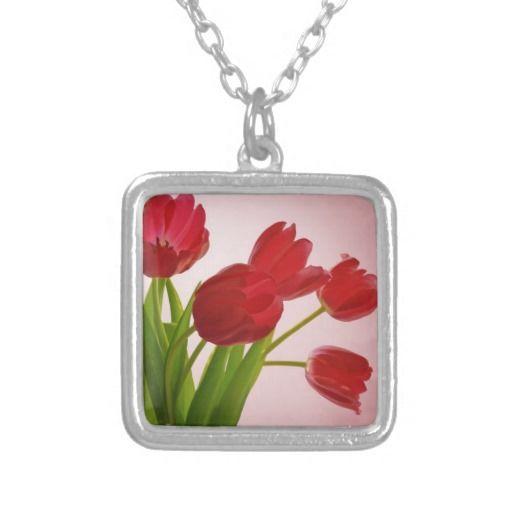 Tulips Custom Jewelry #Tulips #Flowers #Necklace #Pendant
