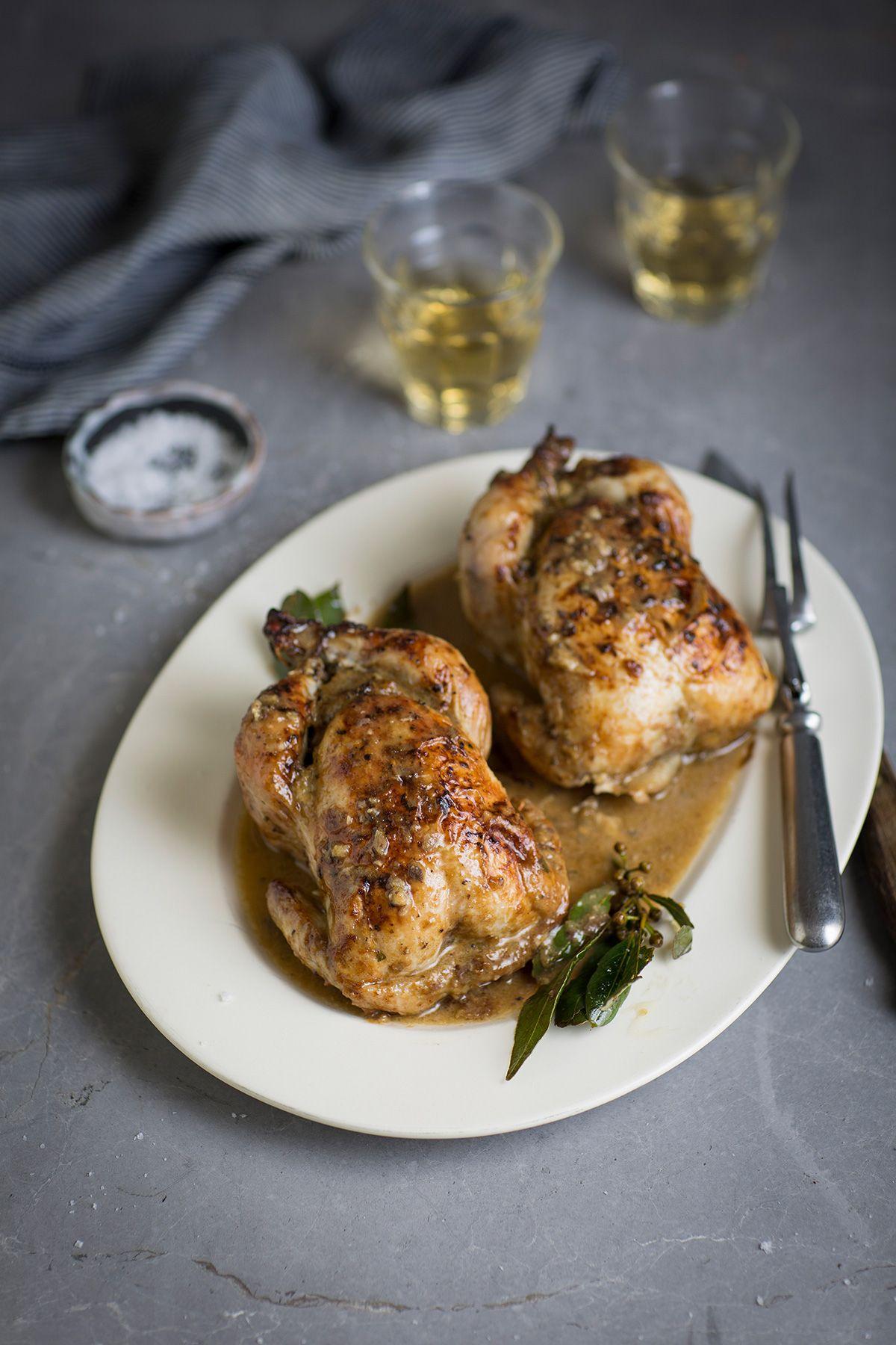 Roast Baby Chickens Stuffed With Pork Sage Recipe Drizzle And Dip Recipe Pork Sage Recipes Recipes