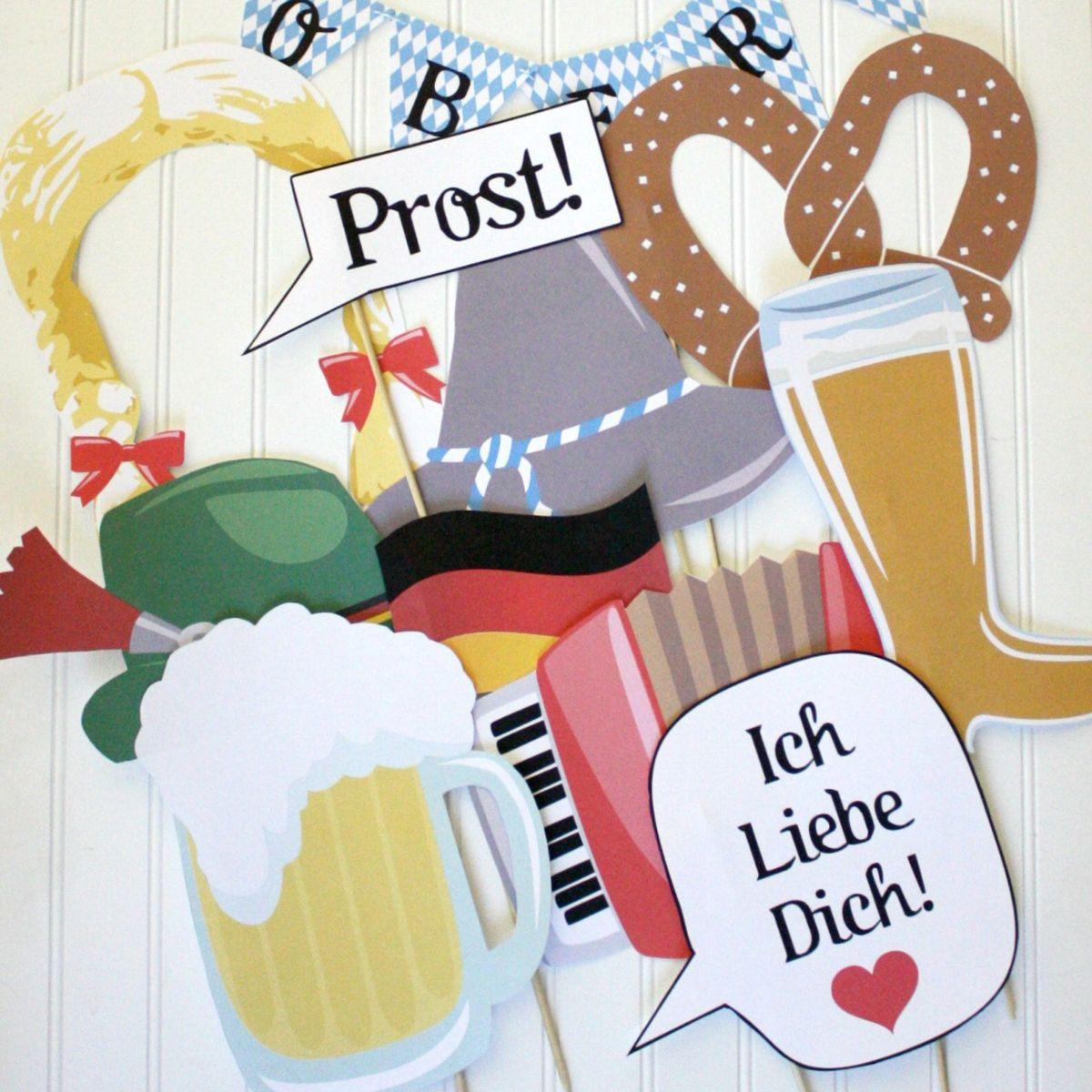 Oktoberfest PHOTO BOOTH PROPS Printable diy printable