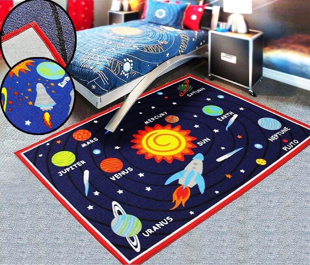 Kids Rooms Galaxy Planet Bedroom Rugs Nursery Floor Play Mats Girls Home Carpets Bedroom Rug Home Carpet Kids Room