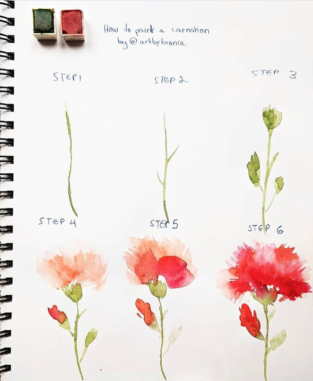 Pin By Widow Maker On Tutorial Watercolor Flowers Tutorial