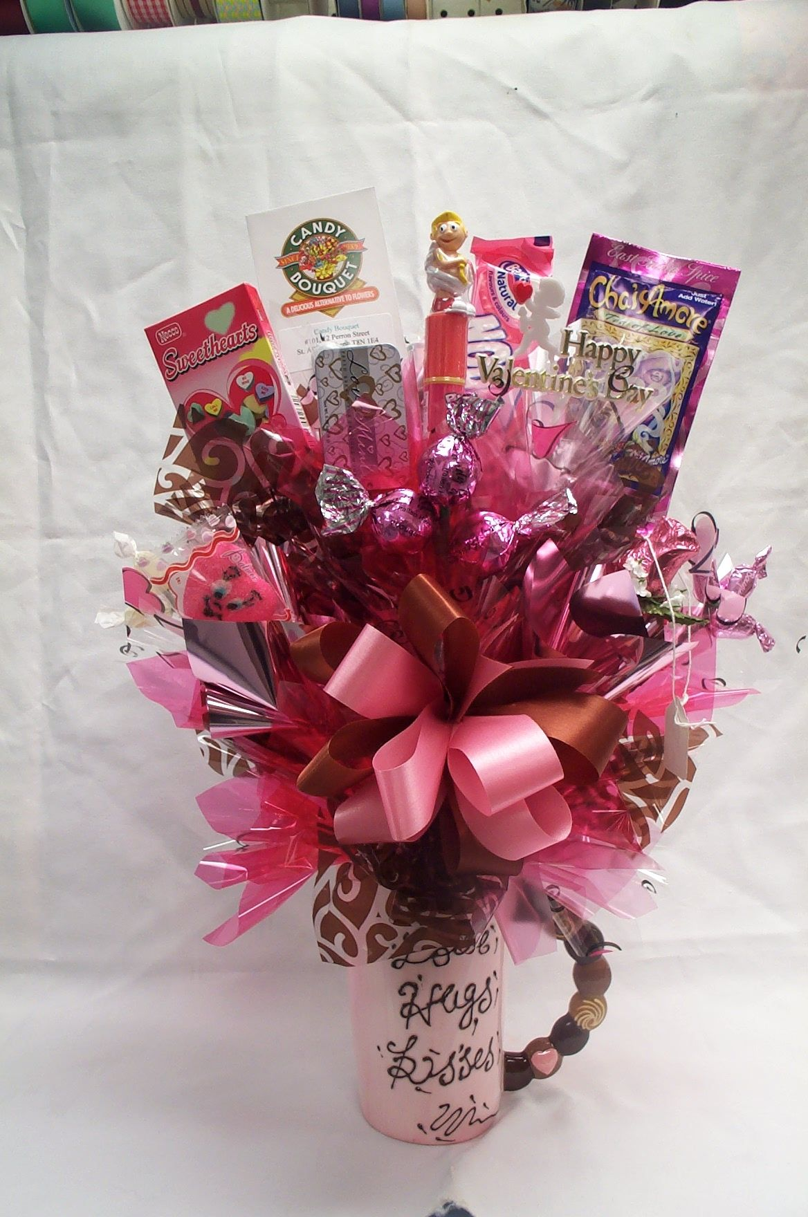 Hugs and kisses candy ideas pinterest hug and kiss hugs and kisses bouquet izmirmasajfo