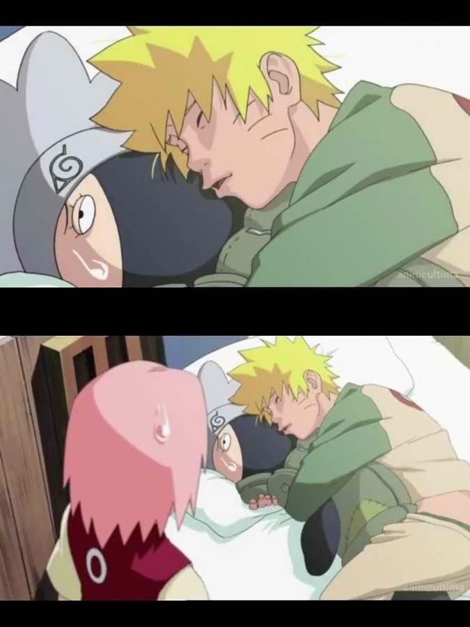 Naruto Was Dreaming Of Kissing Sakura Why Does He Have A Kakashi Plushie I Want A Kakashi Plushie Too Anime Naruto Naruto Funny Naruto Characters