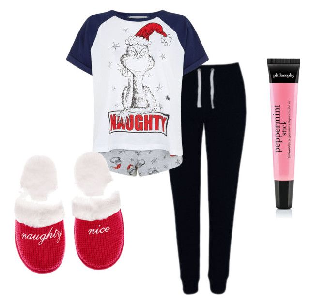 """""""Christmas Eve pj's"""" by shamelesslymaya ❤ liked on Polyvore featuring George, Victoria's Secret, women's clothing, women, female, woman, misses and juniors"""